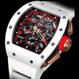 Replica Richard Mille RM 011 Flyback Chronograph White Demon White ATZ and Red Gold Watch on sale