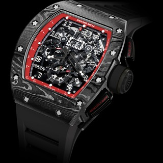 Replica Richard Mille Watch-RM 011 Flyback Chronograph Black Night TZP Black Ceramic and NTPT Carbon