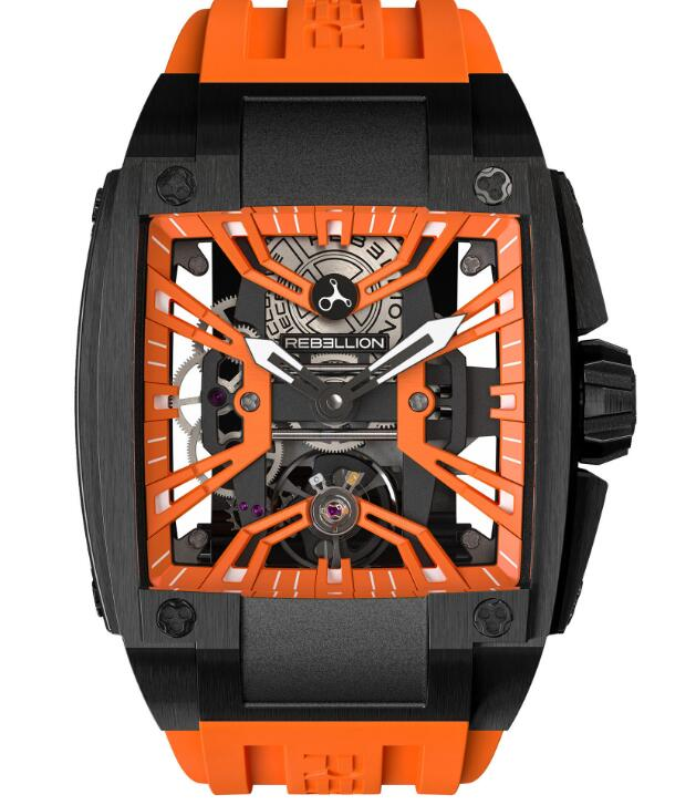 Rebellion Re-Volt Orange Edition REV.TI.DLC.ORA replica watches