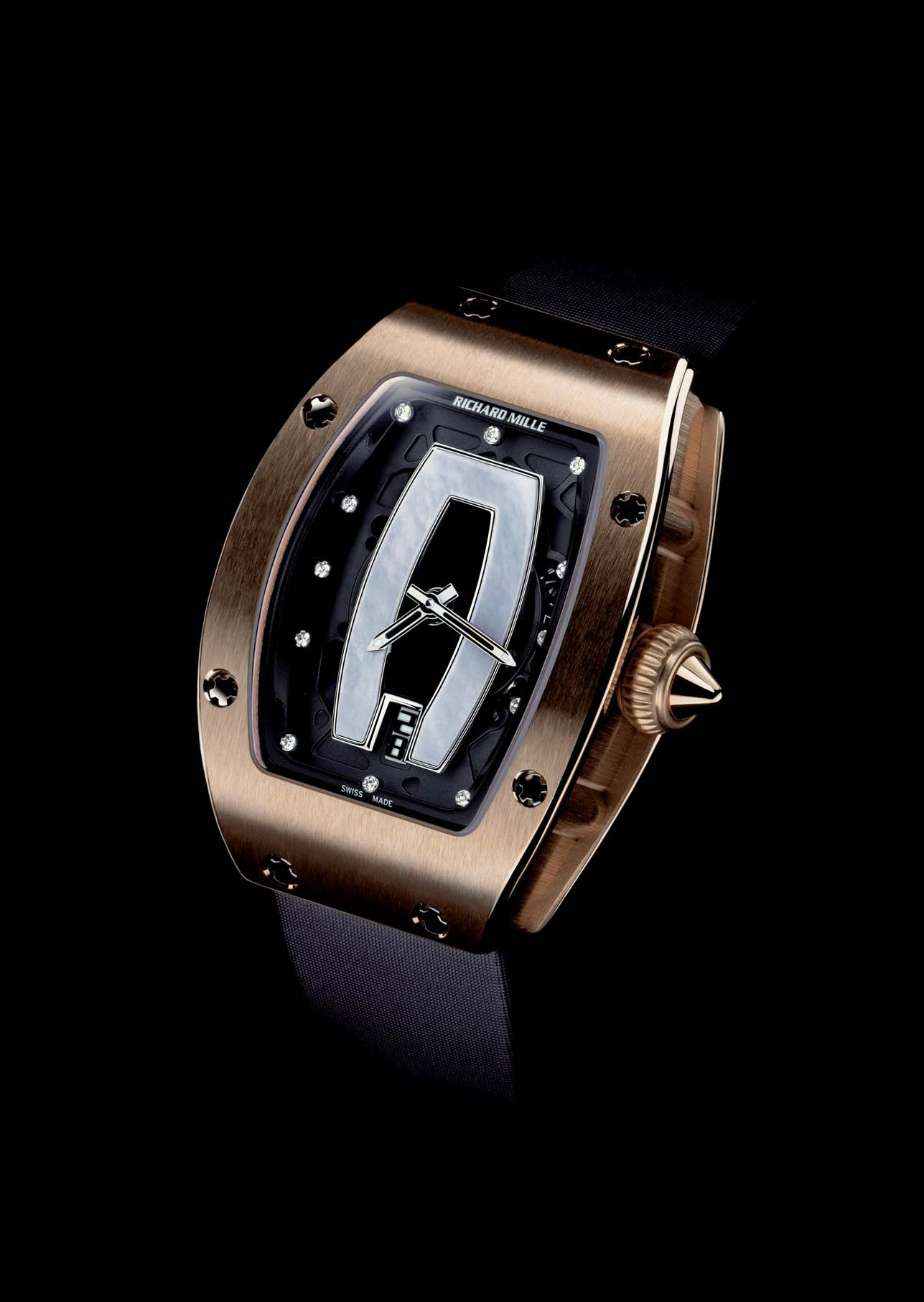 Replica Richard Mille RM 007 Red Gold Mother of Pearl Center Watch