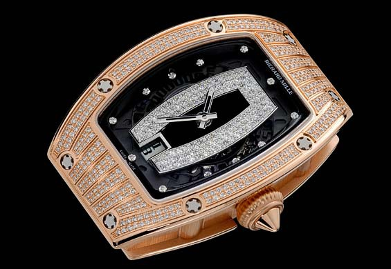 Replica Richard Mille RM 007 Red Gold Pavé Black Center Watch