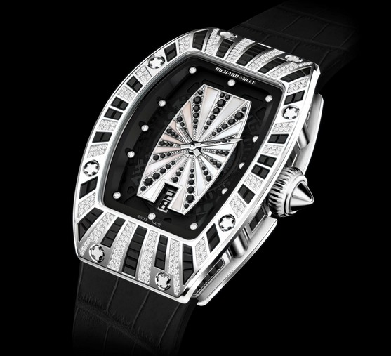Replica Richard Mille RM 007 White Gold Pavé Black and White Watch