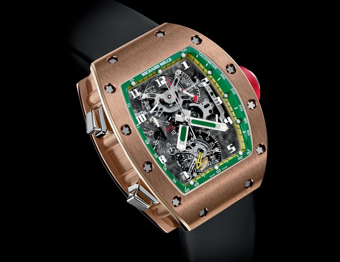 Replica Richard Mille RM 008 Felipe Massa Red Gold Watch