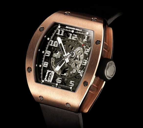 Replica Richard Mille RM 010 Red Gold Watch