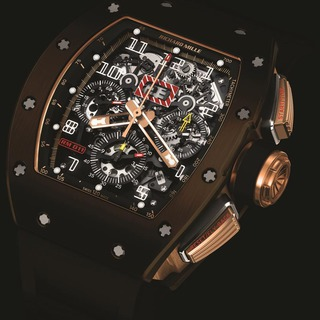 Richard Mille Replica RM 011 Flyback Chronograph Brown Silicon Nitride