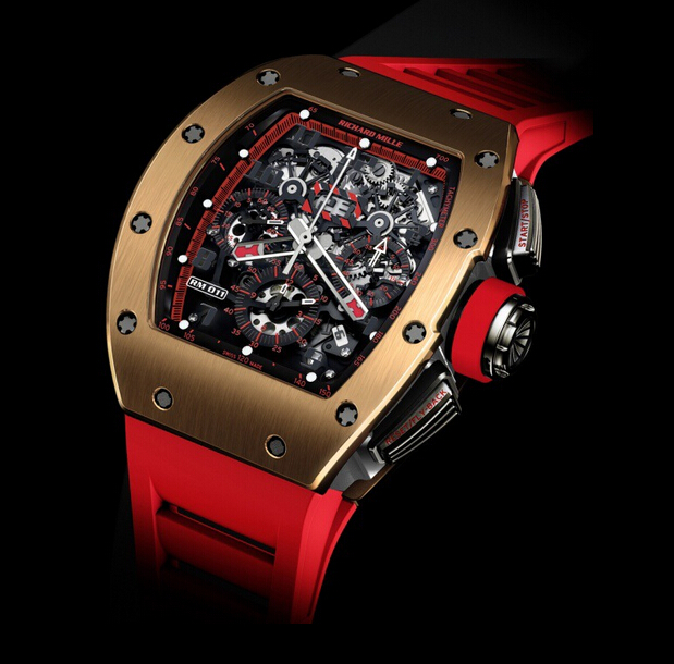 Replica Richard Mille 2014 NEW RM 011 Flyback Chronograph Red Demon Titanium and Red Gold Watch