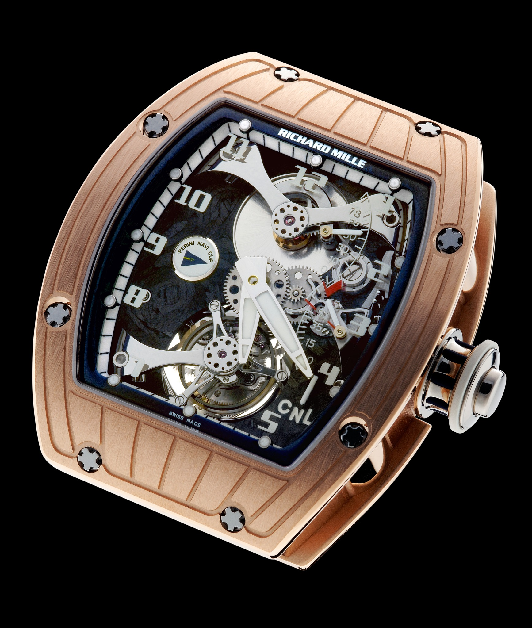 Replica Richard Mille RM 014 Perini Navi Cup Red Gold Watch