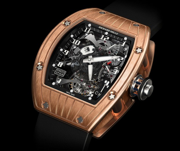Replica Richard Mille RM 015 Rabat Red Gold Watch