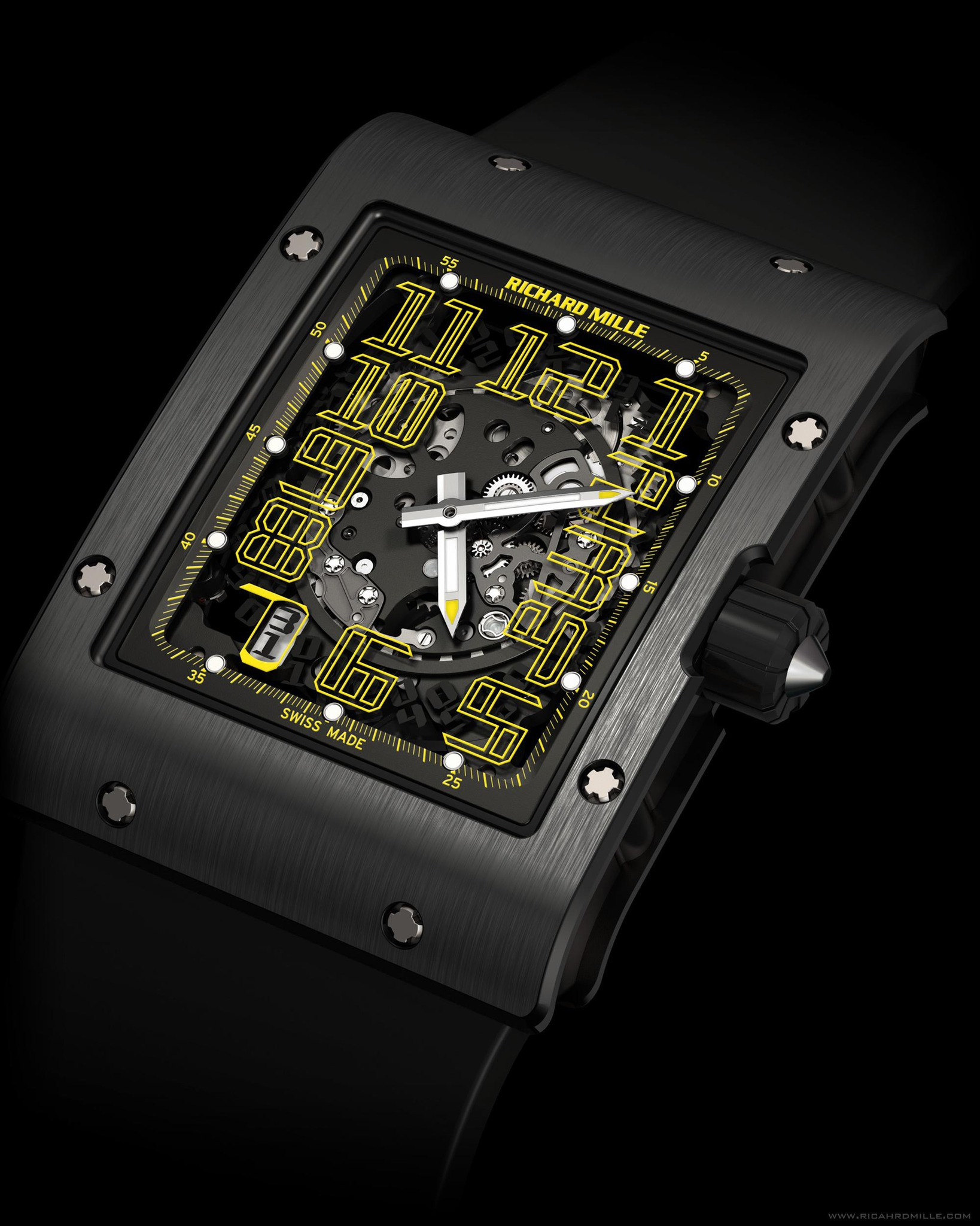 Replica Richard Mille RM 016 Automatic America Yellow Black Titanium Watch