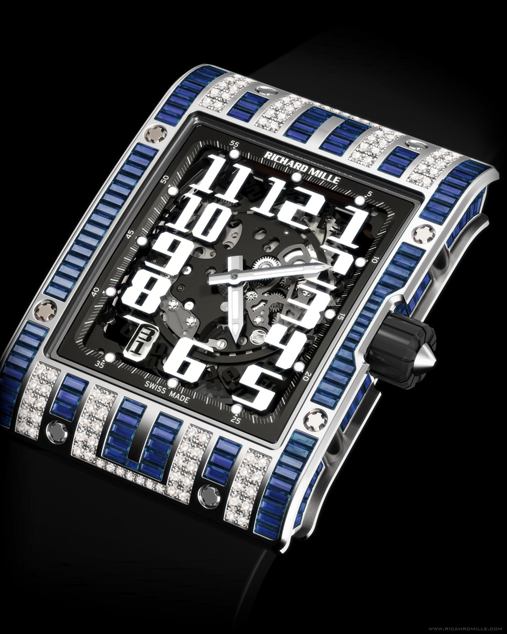 Replica Richard Mille RM 016 Automatic Ali Bin Ali White Gold Watch