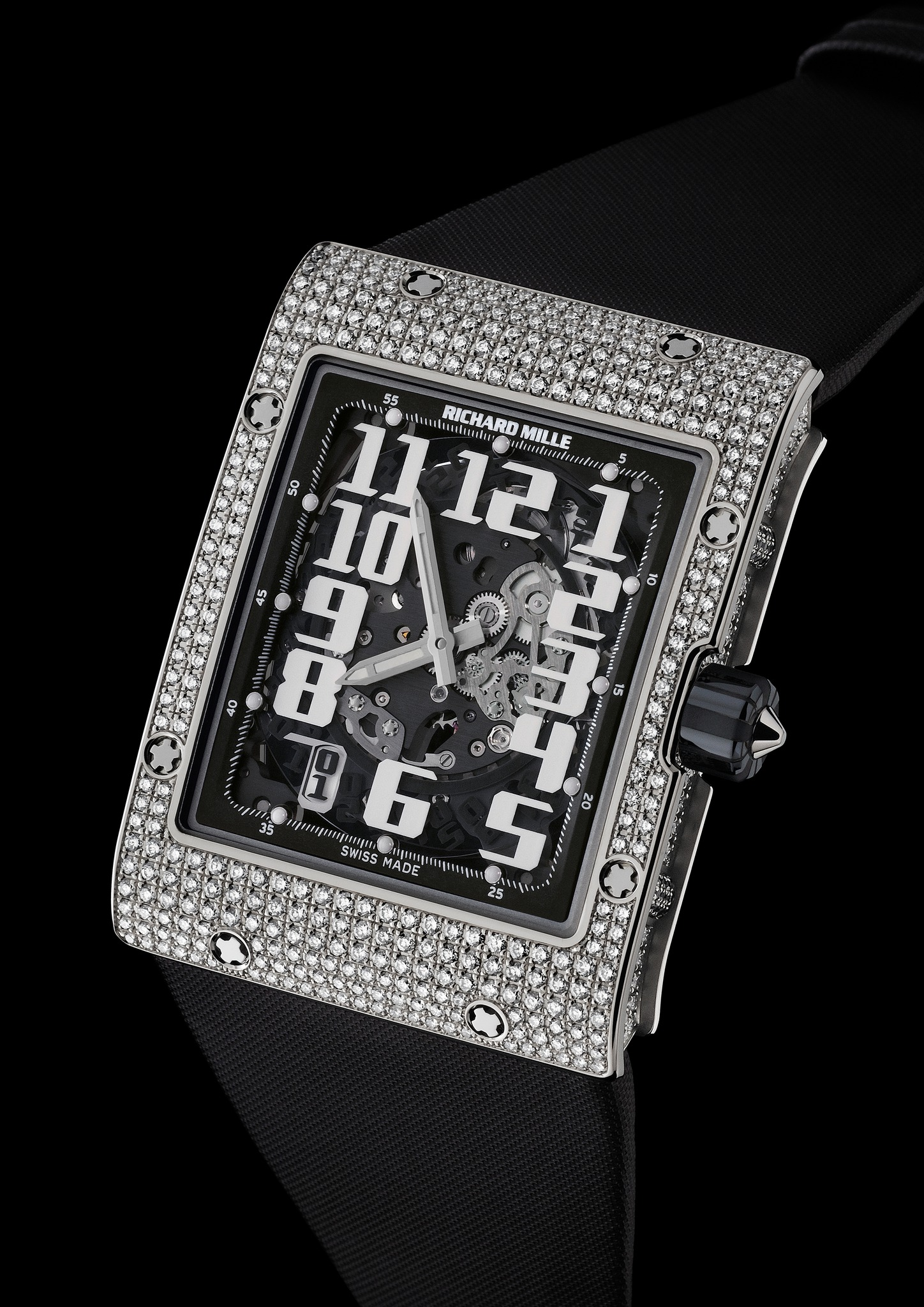 Replica Richard Mille RM 016 Automatic Diamonds White Gold Watch