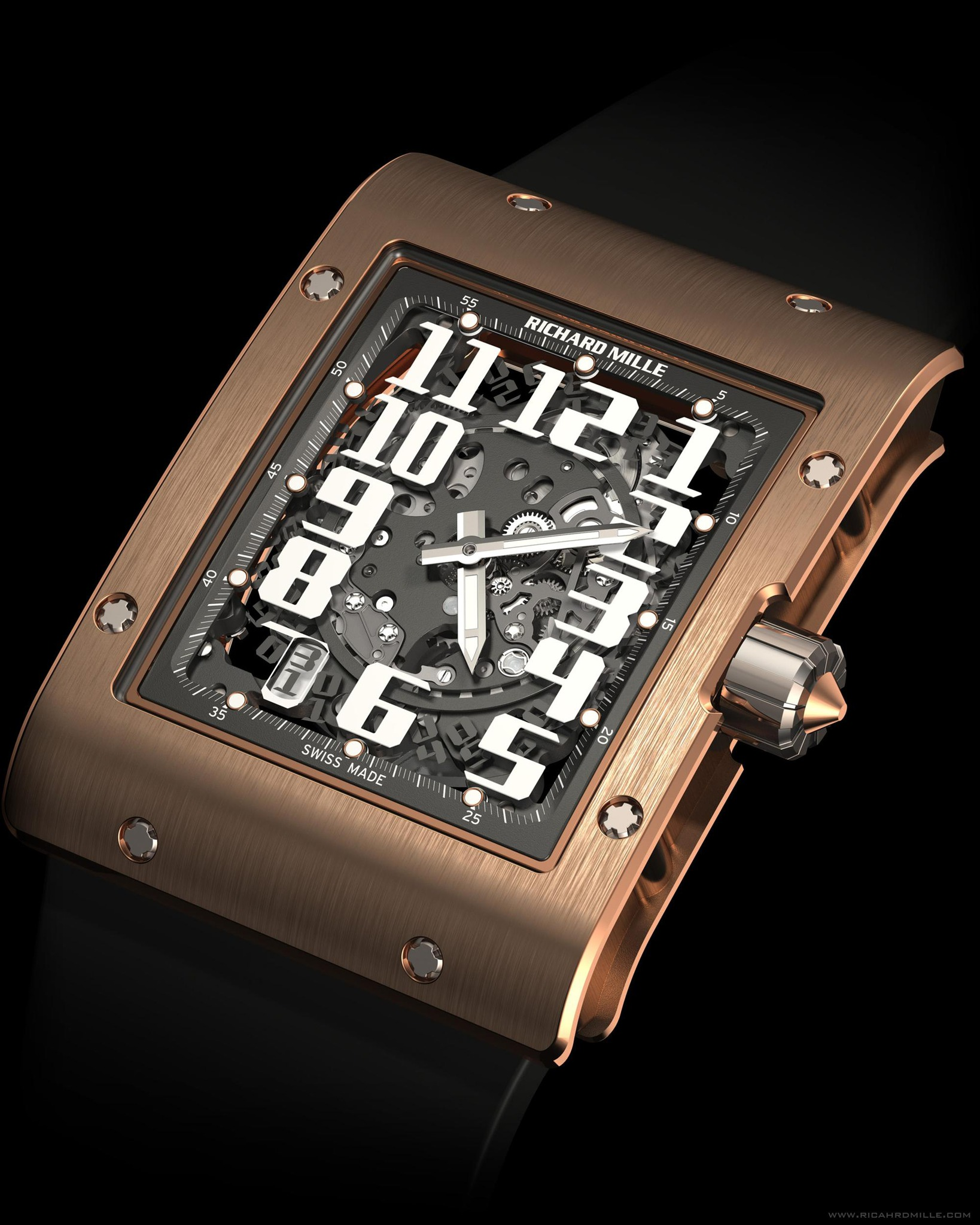 Replica Richard Mille RM 016 Automatic Red Gold Watch