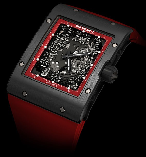Replica Richard Mille RM 016 Black Night Black DLC Titanium Watch