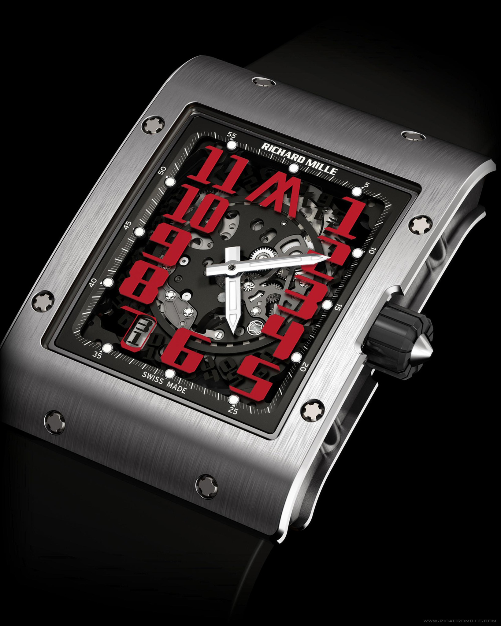 Replica Richard Mille RM 016 Automatic Marcus White Gold Watch