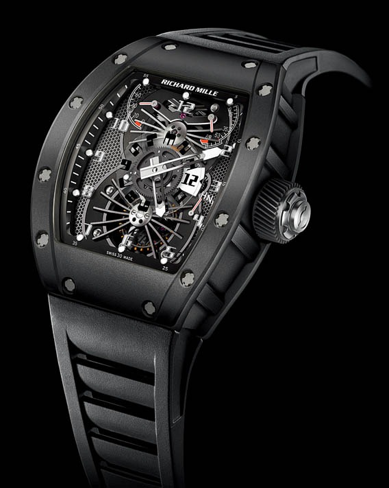 Replica Richard Mille RM 022 Aerodyne Dual Time Zone Carbon Nanotubes Watch