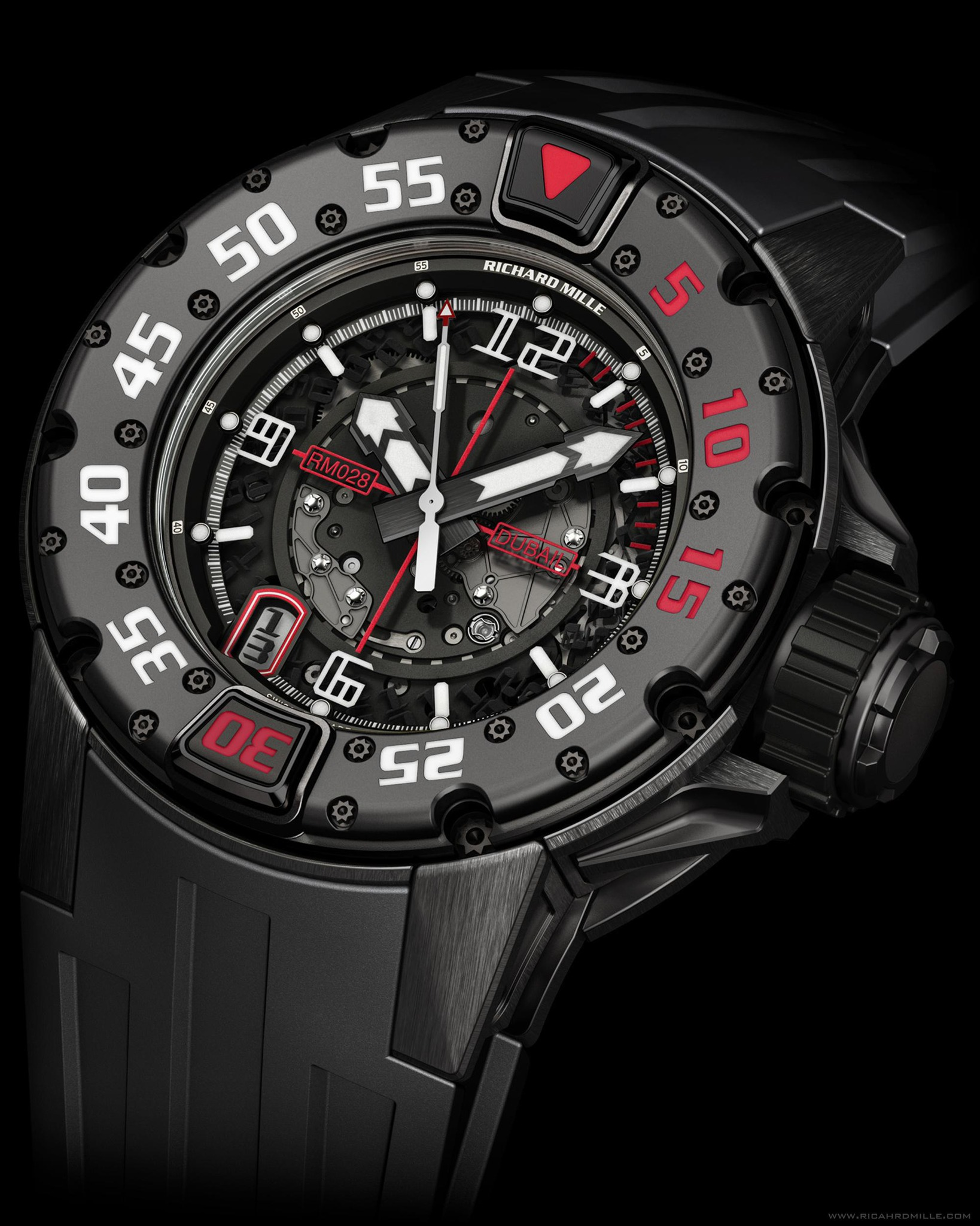 Replica Richard Mille RM 028 Diver Dubail Black Titanium Watch