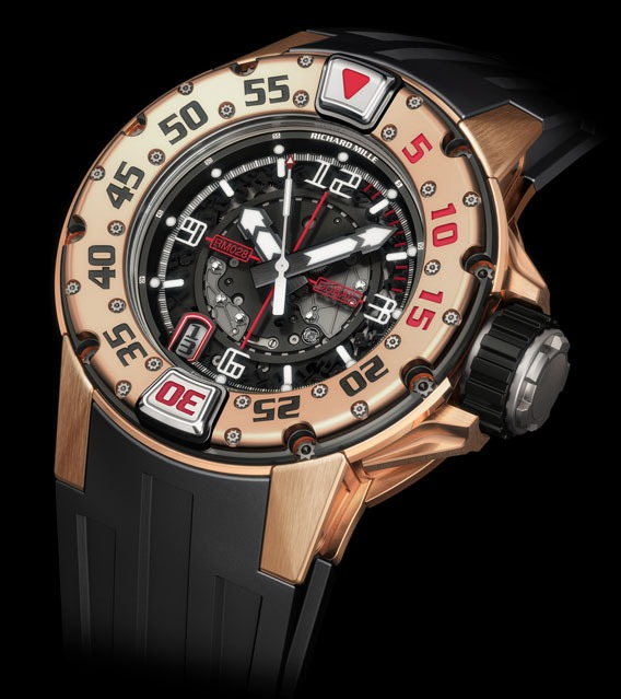 Replica Richard Mille RM 028 Diver Dubail Red Gold Watch