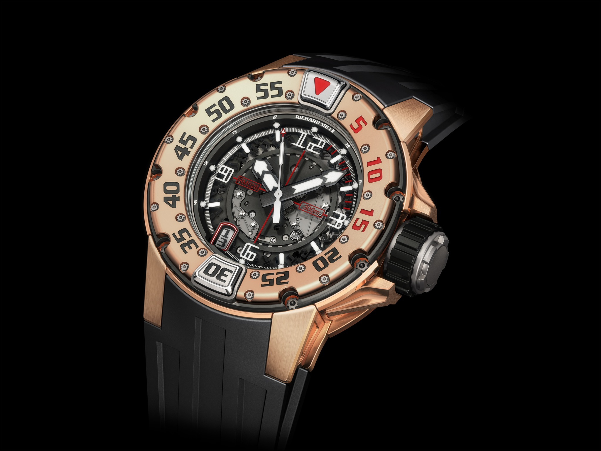 Replica Richard Mille RM 028 Diver Red Gold Watch
