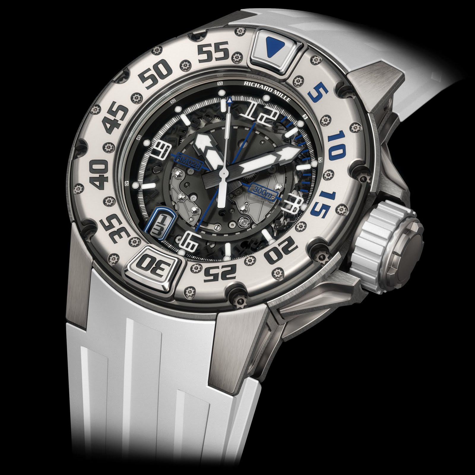 Replica Richard Mille RM 028 Diver Saint Tropez Titanium Watch