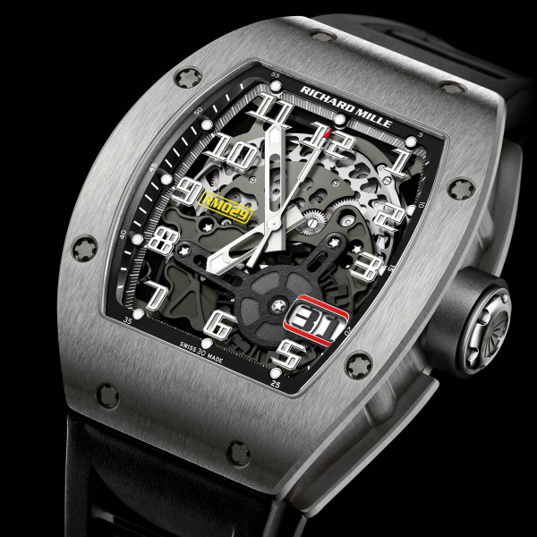 Replica Richard Mille RM 029 Automatic Big Date Watch Ti 529.45.91