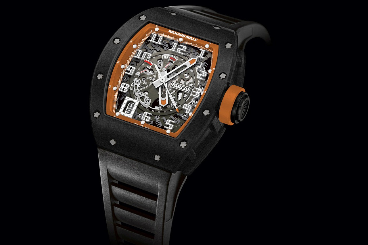 Replica Richard Mille RM 030 Watch RM 030 Americas Black DLC Titanium