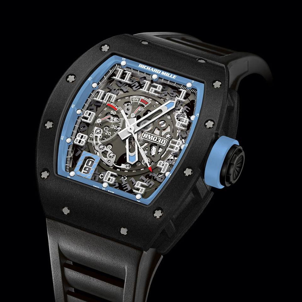 Replica Richard Mille RM 030 Watch RM 030 Argentina Black DLC Titanium