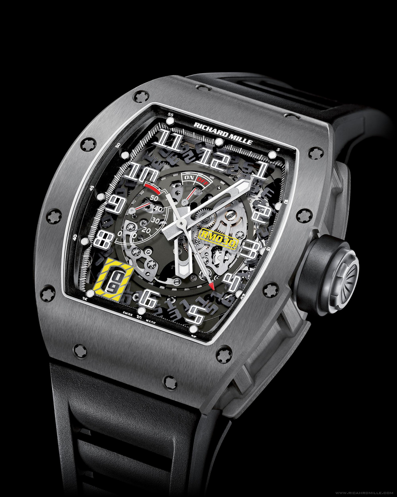 Replica Richard Mille RM 030 Watch RM 030 Automatic Declutchable Rotor Titanium
