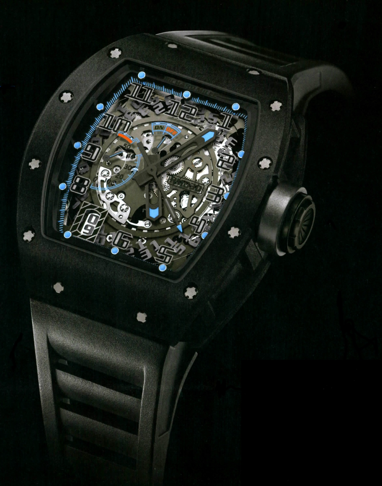 Replica Richard Mille RM 030 Watch RM 030 Kronometry 1999 Black DLC Titanium