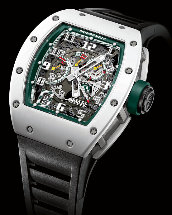 Replica Richard Mille 2014 NEW RM 030 Le Mans Classic White ATZ Ceramic Watch