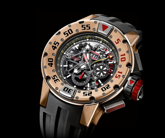 Replica Richard Mille RM 032 Diver Chronograph Red Gold Watch