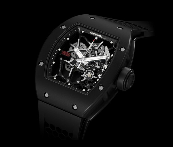 Replica Richard Mille RM 035 Rafael Nadal Chronofiable Certified Black Magnesium-Aluminium Watch