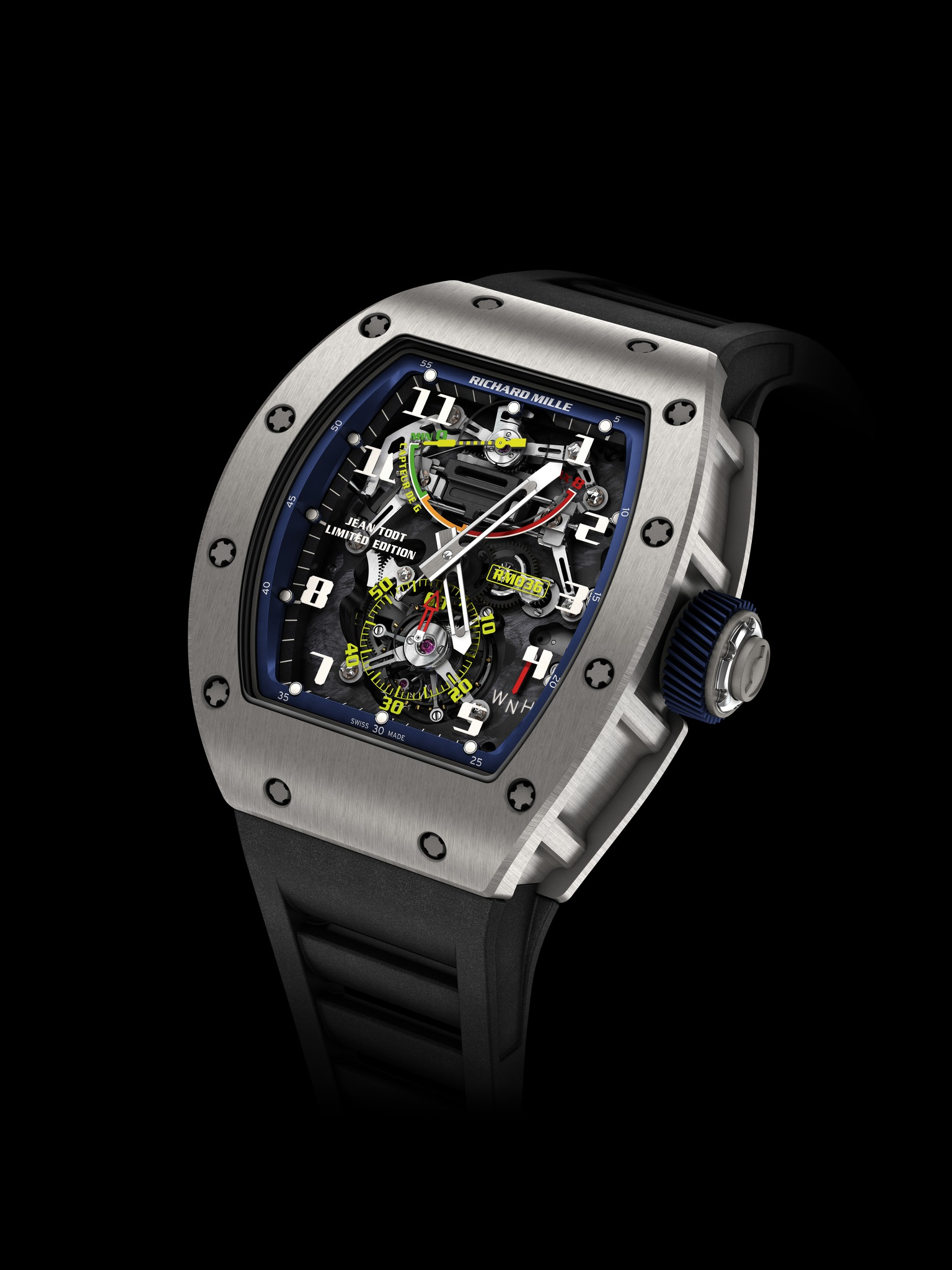 Replica Richard Mille RM 036 G-Sensor System Tourbillon Jean Todt Titanium Watch