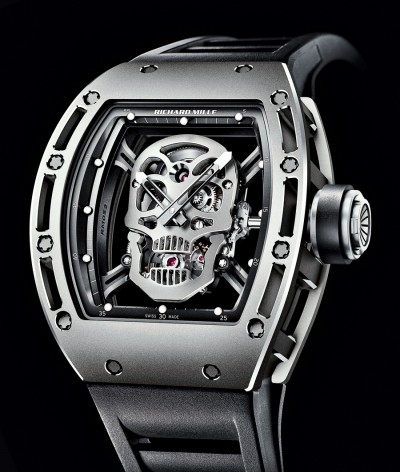 Replica Richard Mille RM 052 Tourbillon Skull Titanium Watch