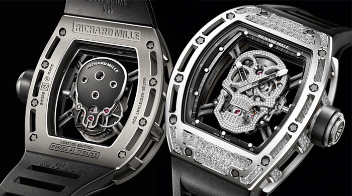 Replica Richard Mille RM 052 Tourbillon Skull WG Watch