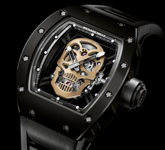 Replica Richard Mille RM 052-01 Tourbillon Skull Black TZP Ceramic and Carbon Nanotubes Watch