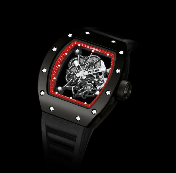 Replica Richard Mille RM 055 Watch RM 055 Bubba Watson Red Drive Black Rubberized Titanium