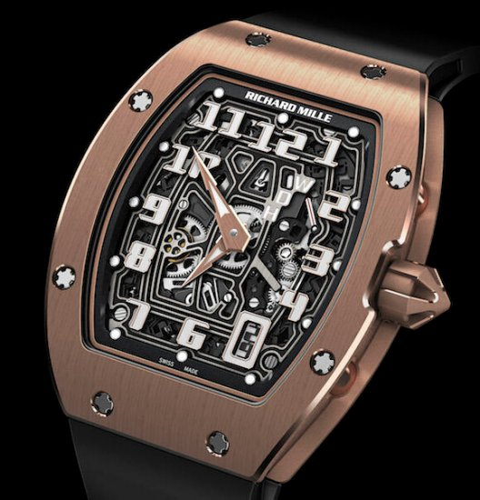 Buy Replica Richard Mille RM 067-01 RG Rose Gold watch Review