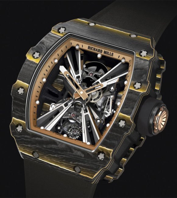 Buy Richard Mille RM 12-01 Tourbillon Black Carbon with Gold TPT watch Price