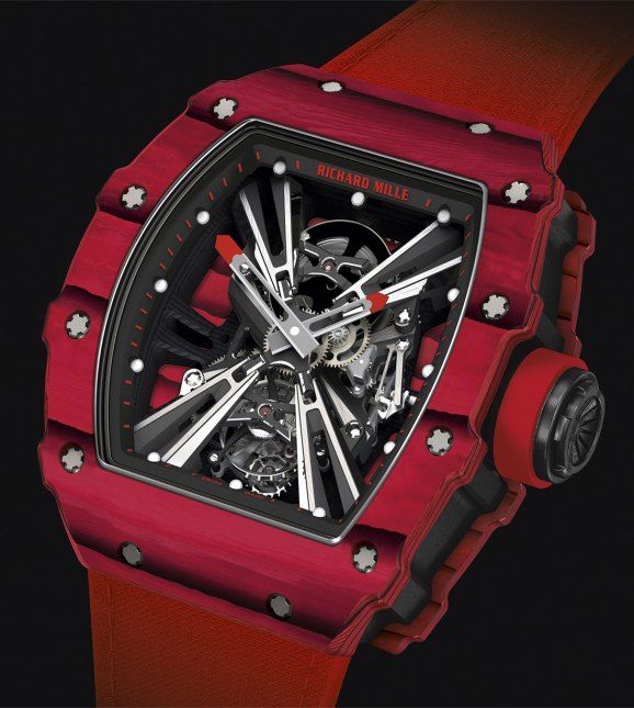 Buy Richard Mille RM 12-01 Tourbillon Red and Black Carbon with Quartz TPT watch Price