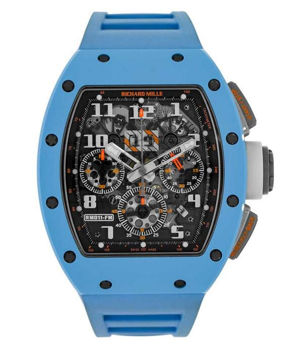 Buy Replica Richard Mille Felipe Massa Chronograph Baby Blue Ceramic Last Edition Watch RM011