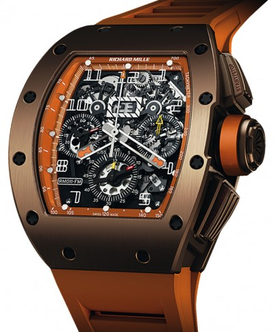 Replica Richard Mille RM011 Flyback Chronograph Brown Watch