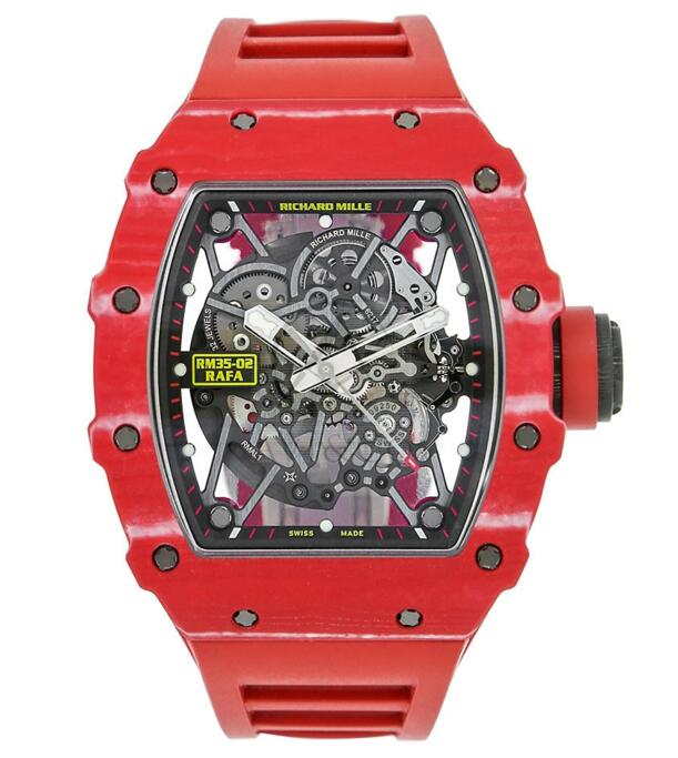 Buy Replica 2019 Richard Mille Automatic Rafael Nadal Signature Red Quartz Men's Watch RM35-02