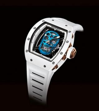 Replica Richard Mille RM052 blue skull Toutuo flywheel Watch