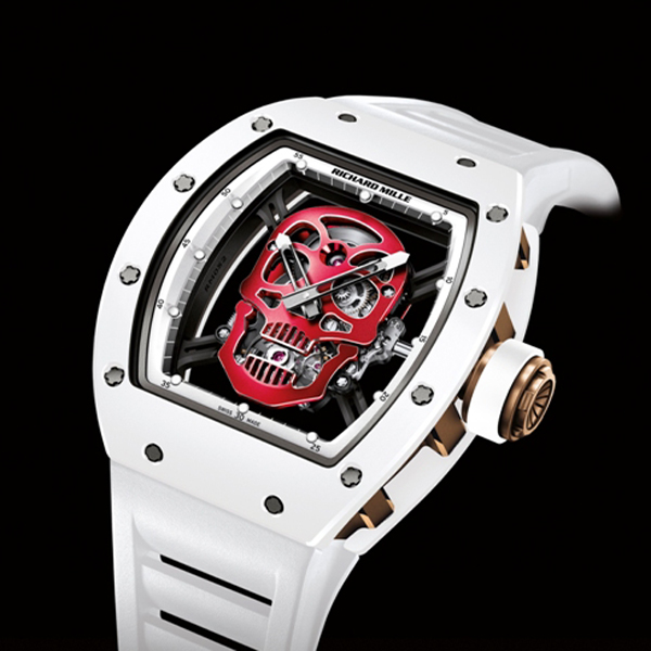 Replica Richard Mille RM052 red skull Toutuo flywheel Watch