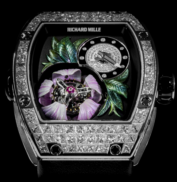 Replica Richard Mille RM019 2015 RM 019-02 Tourbillon Fleur Pavé White Gold Unisex Watch