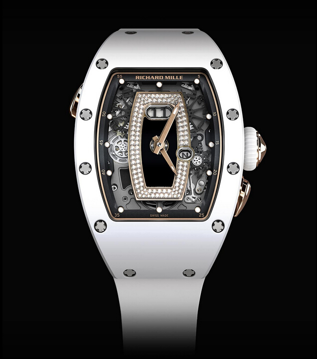 Replica Richard Mille RM037 Collection 2015 RM 037 Ladies White Ceramics Women Watch