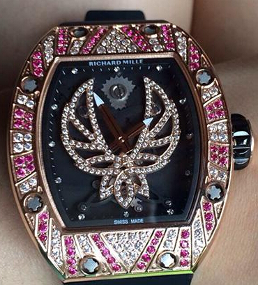 Replica Richard Mille RM 051 rose gold inlay red diamond Unisex Watch