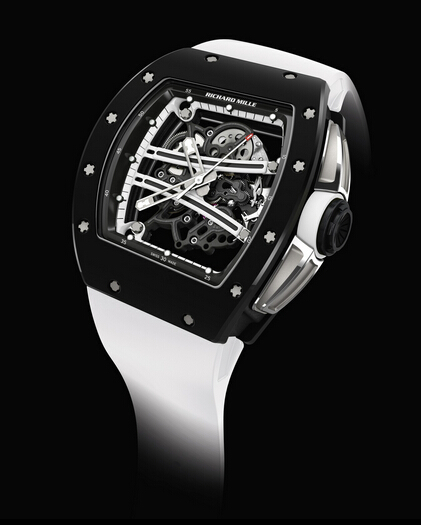Replica Richard Mille RM061 2015 RM 061-01 Yohan Blake Monochrome TZP Black Ceramic Men Watch