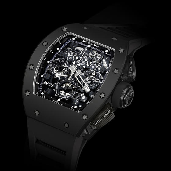 Replica Richard Mille 2015 RM 011 FLYBACK CHRONOGRAPH BLACK PHANTOM Men Watch