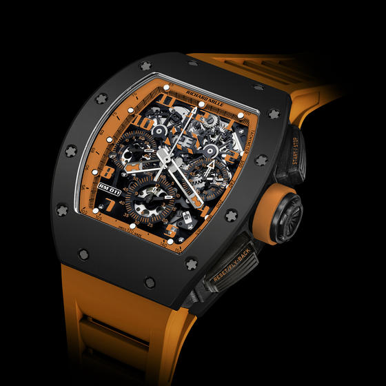 Replica Richard Mille 2015 RM 011 FLYBACK CHRONOGRAPH ORANGE STORM Men Watch